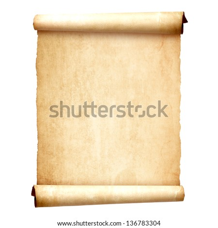 old vintage scroll isolated on...