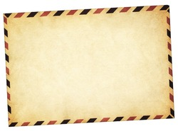 Old vintage style envelope path added