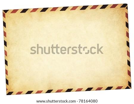 Old vintage style envelope path added