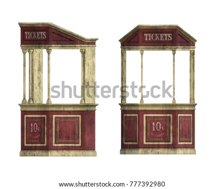 old vintage ticket booth...