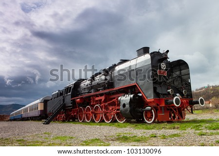 Old vintage train - stock photo