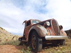 Old vintage truck preserved in the Arizona desert.