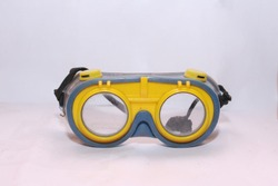 old vintage yellow diving eyeglasses