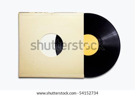 Old vinyl - stock photo