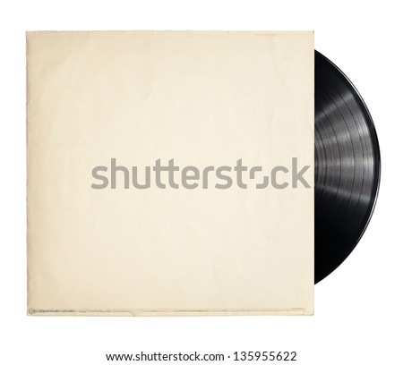old vinyl record in a paper case