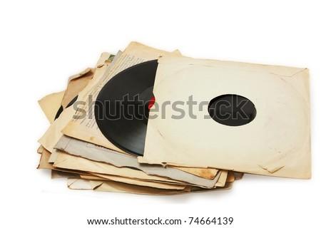 old vinyl record paper case
