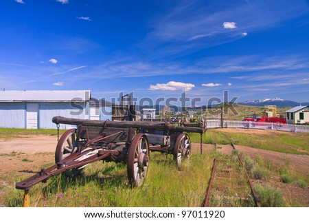 Old wagon at the World Museum Of Mining, Butte, Montana
