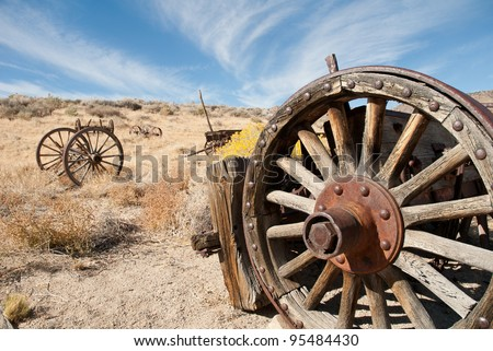 Old Wagon Wheel in the California Desert