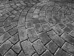 old walkway texture, black and white style