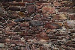 old wall from a stone in a castle