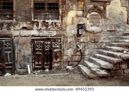 old wall of a cairo city. egypt