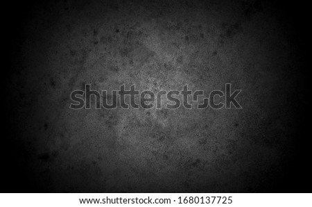 Old wall texture cement dark black gray  background abstract grey color design are light with white gradient background.