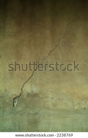 old wall with perfect crack