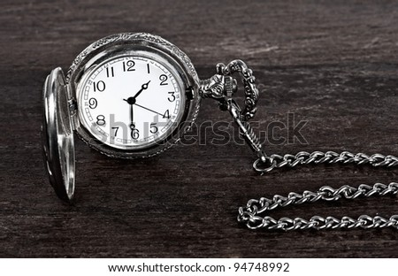 Old watch and chain