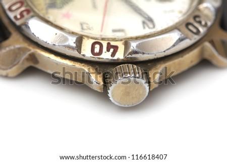 old watch. macro