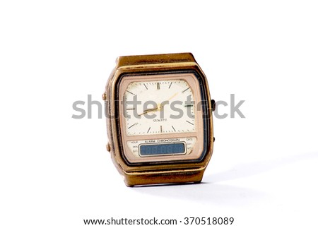 Old watch on white background #370518089