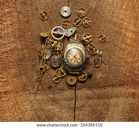 old watches and gears