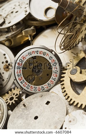 old watches and gears on a bundle
