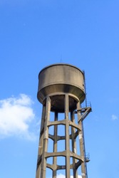 Old Water Tank Tower in the blue sky