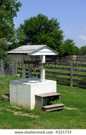 Old water well on farm