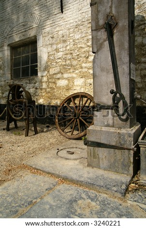 Old waterpump. Belgium, Flanders. - stock photo