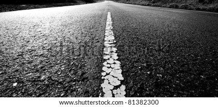 Old way to destination black and white tone background abstract