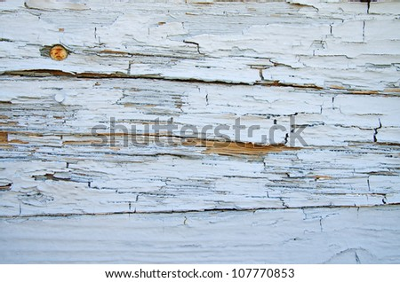 old weathered and cracked painted wood surface background