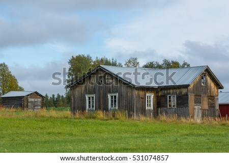 old weathered barn in a rural scandinavian landscape ez canvas