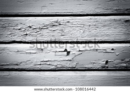 Old weathered black and white wood wall background