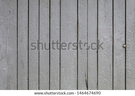 Old Weathered Gray Painted Vertical Wooden Panels #1464674690