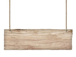 old weathered light wood sign isolated on white background 2