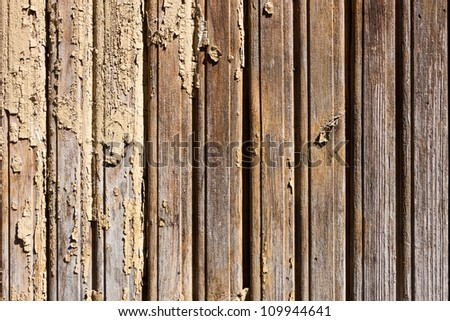 Old weathered painted wooden wall background