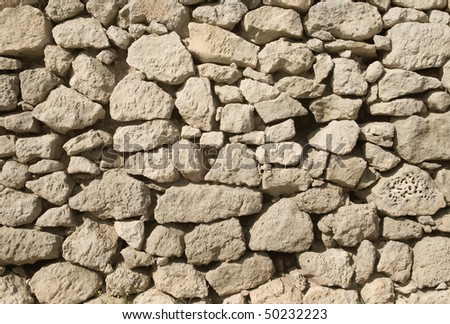 Old weathered stone wall for background