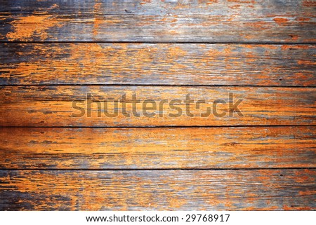Old weathered wooden planks with peeling paint