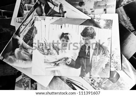 Old wedding photos of Soviet times