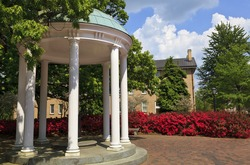 Old Well at UNC Chapel Hill in the Spring