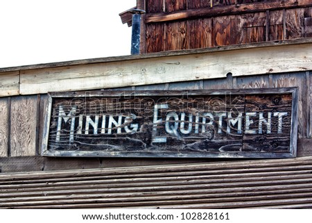 Old Western Mining Town - stock photo