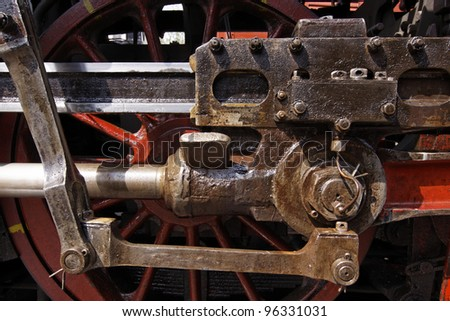old wheels of a steam locomotive #96331031