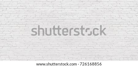 old white brick wall background, vintage texture of light brickwork #726168856