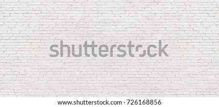 old white brick wall background, vintage texture of light brickwork #726168856