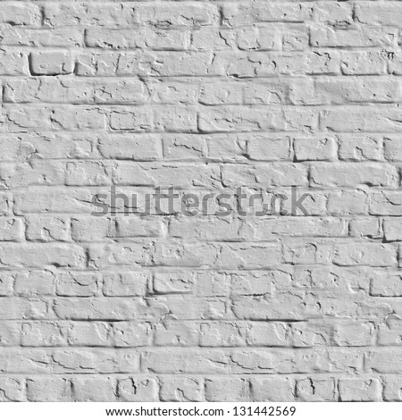 Old White Brick Wall. Seamless Tileable Texture.