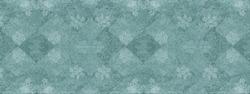 Old white green vintage worn shabby elegant damask rue diamond floral leaves flower patchwork motif tiles stone concrete cement wall wallpaper texture background banner