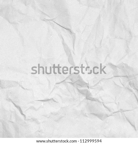 old white handmade crumpled paper texture background - stock photo