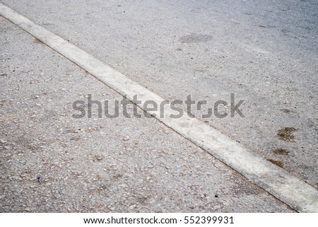 Old white line with Road Asphalt #552399931
