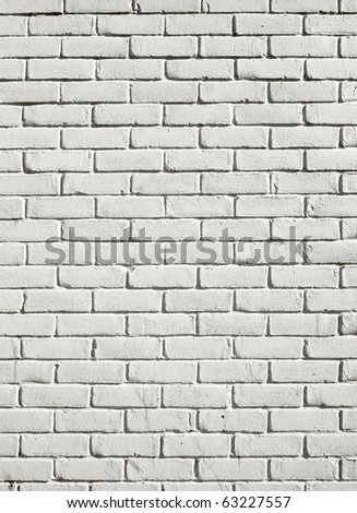 Old white painted brick wall close up background.