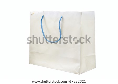 Old white paper bag