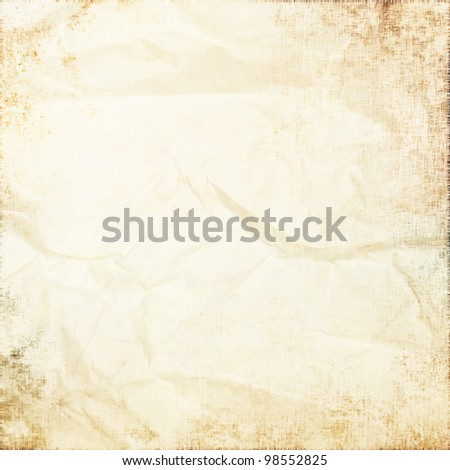 old white parchment as grunge background - stock photo