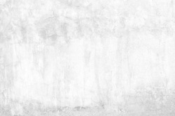 Old White Raw Concrete Wall Texture Background Suitable for Presentation and Web Templates with Space for Text.