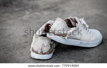 Old white sneakers #770914084
