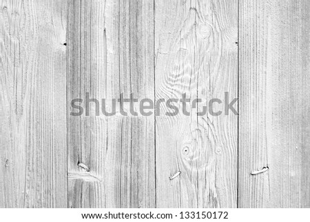 Old white wall background texture with nails and natural wooden pattern